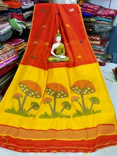Masroom work designer saree