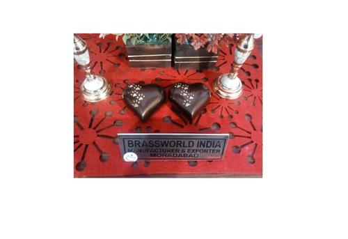 Brown Heart Pet Paw Urn Funeral Supplies