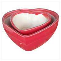 Heart Shape Bonsai Ceramic Pot