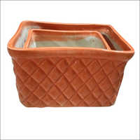 2 Piece Choker Ceramic Flower Pot