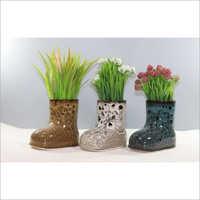 Shoes Shape Ceramic Flower Pot