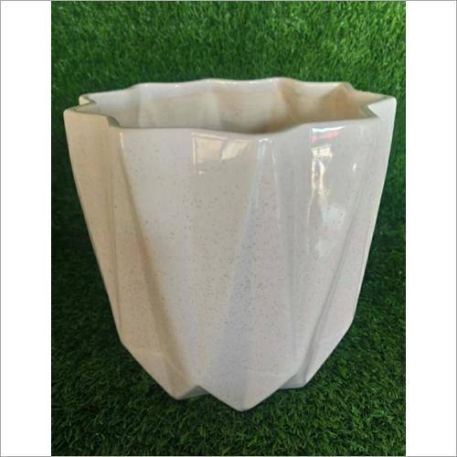 White Ceramic Planter Pot