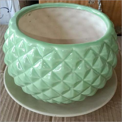 Round Ceramic Planter Pot