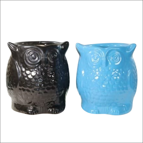 Ceramic Mini Owl Planter Pot
