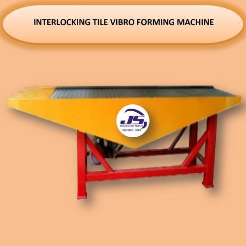 Interlocking Tile Vibro Forming Machine