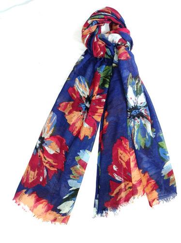 Wool Flower Printed Shawls