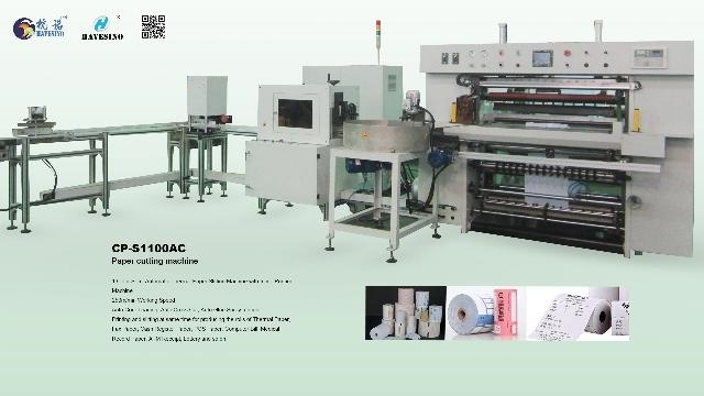 Automatic Thermal Paper Slitter Rewinder Machine CP-S1100A