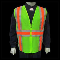 Green Fabric Safety Jacket