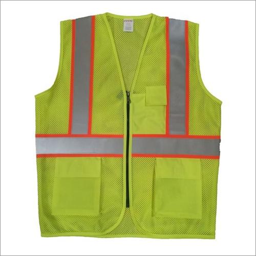 Green Mesh GSM 160 - 180 ( 1717) Reflective Safety Jacket
