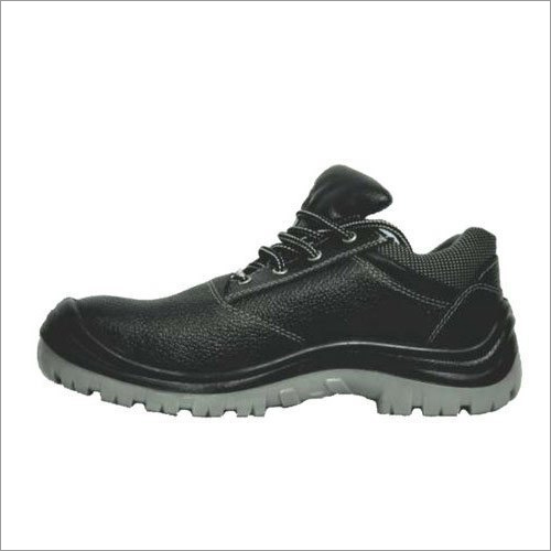 Velvet PU Sole Grain Leather Safety Shoes