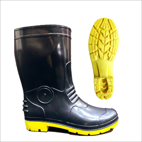 Robot Black And Yellow Gumboots
