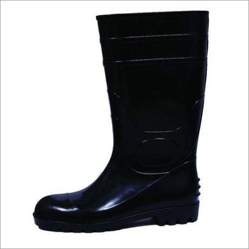 13 Inch Full PVC Black Safety Gumboots