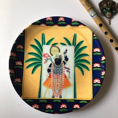 Pichwai Theme Wall Plate