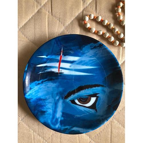 Lord Shiva Theme Wall Plate