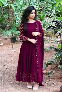 PARTI WEAR DRESS WITH EMBROIDERED COLLECTION
