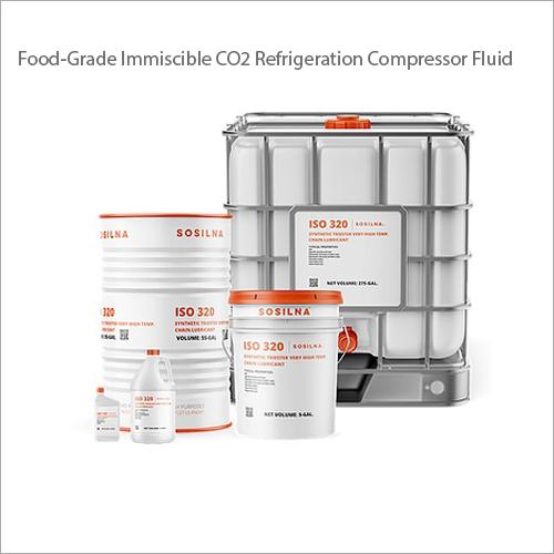 Food-Grade Immiscible CO2 Refrigeration Compressor Fluid