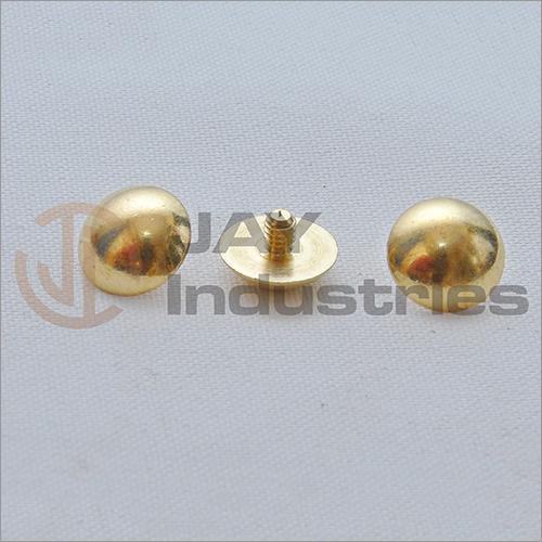 Brass Half Spherical Head Mirror Cap