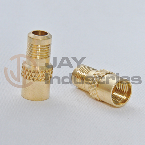 Brass Knurled Nipple