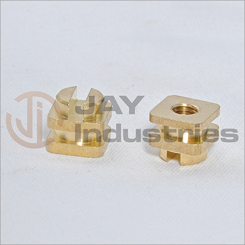 Brass Square Slotted Insert