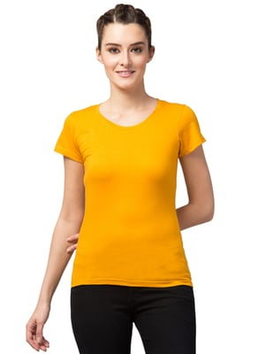 Ladies Round Neck T-shirt For Girls & Women