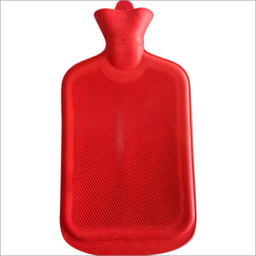 Red Rubber Hot Water Bottle