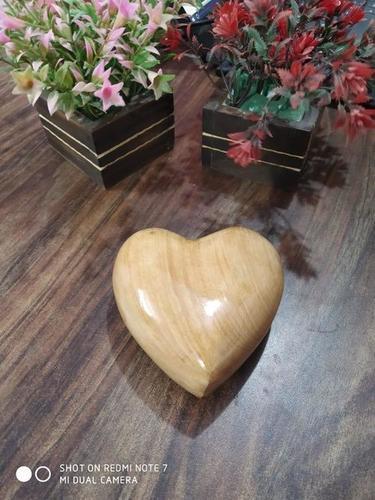 Wood Polished Heart Keepsake Urn Funeral Supplies