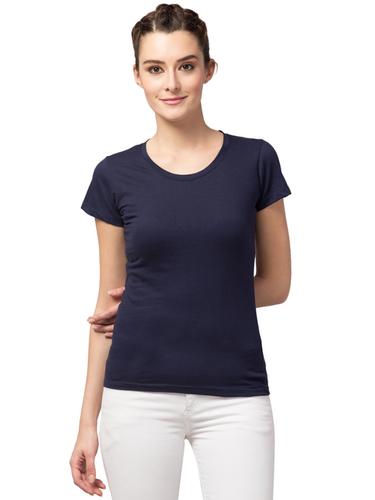 Ladies Round Neck NBlue T-shirt for Girls & Women