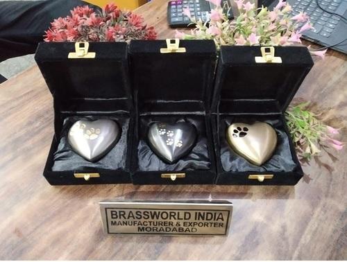 Different Variety Of Brass Heart Keepsake Urn