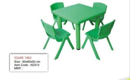 Square Table In Kids School Furniture