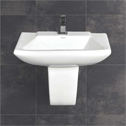 Fermi Series Half Pedestal Wash Basin