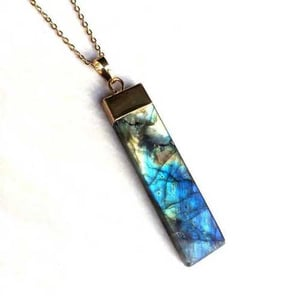 Labradorite pendant with gold plated