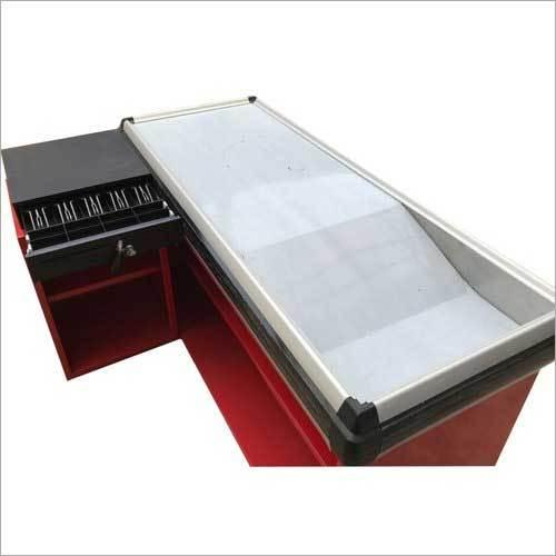 Mild Steel L Shape Cash Counter
