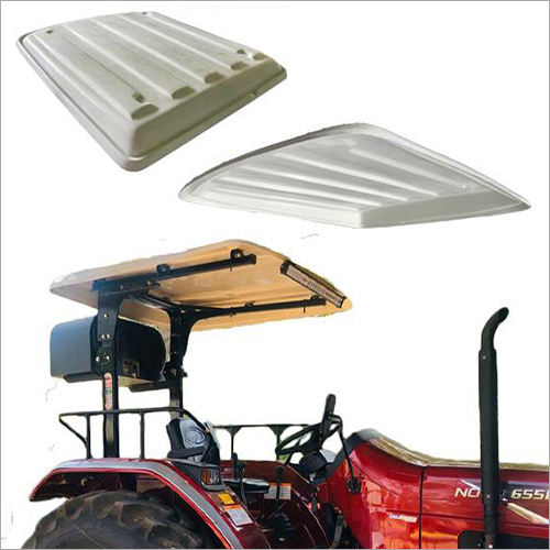 White Tractor Canopy