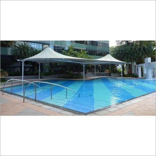 White Swimming Pool Tensile Cover