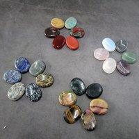Oval Shape Healing Palm Stone