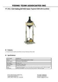 YT-201L Cloth Marking Drill With Heater (Tapered Drill with machine)