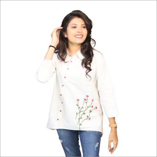 Ladies Woven Cotton Shirt