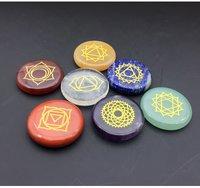 7 Chakra Palm Stone Set