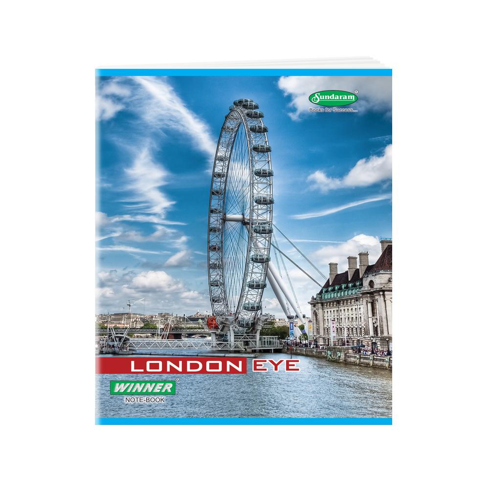 Sundaram Winner Note Book (One Line) - 380 Pages (E-10)