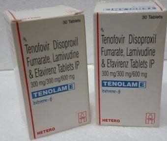 Tenofovir Disoproxil Fumarate , Lamivudine & Efavirenz Tablets