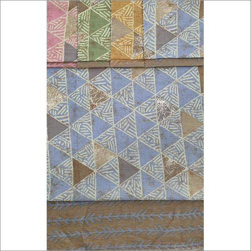 Rayon Two Tone Slub Prints Fabric