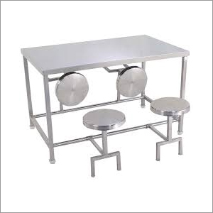 4 Seater Canteen Dining Table