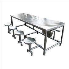 8 Seater SS Rectangular Canteen Dining Table