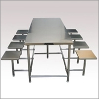 8 Seater Stainless Steel Canteen Dinning Table