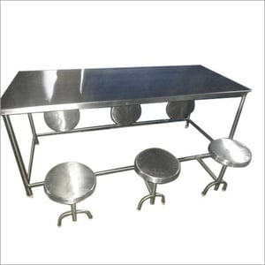 6 Seater Canteen Dining Table