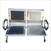 2 Seater Stainless Steel Waiting Chair