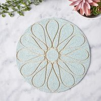 BEADED ROUND SKY PLACEMAT