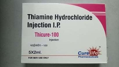 Thiamine Hydrochloride Injection 100Mg