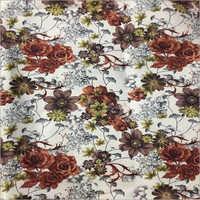 Floral Printed Jute Fabric