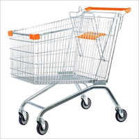 Stainless Steel Supermarket Shopping Trolley